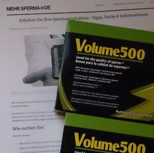 Volume 500 Packungen für den Test
